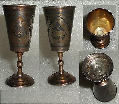 Toller alter russischer Wodka-Becher massiv Silber  (da3612)