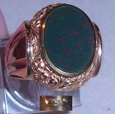 Ring aus 585er Gold mit Onyx, Gr. 62, Ø  19,7 mm (da3769)