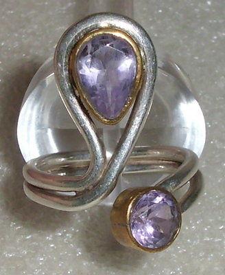 Ring aus 925er Silber mit Amethyste, Gr. 54 Ø 17,2 mm (da3908)
