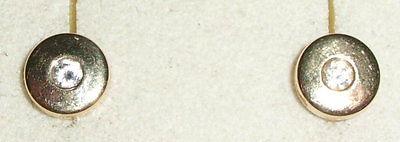 Ohrringe  aus 585er Gold mit Zirkonia