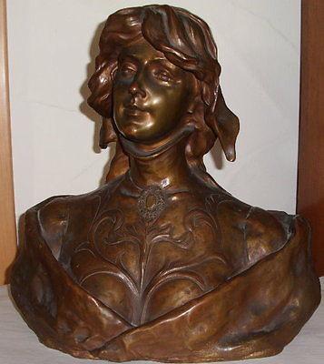 Tolle original alte Jugendstil-Bronze M. SEBLANC