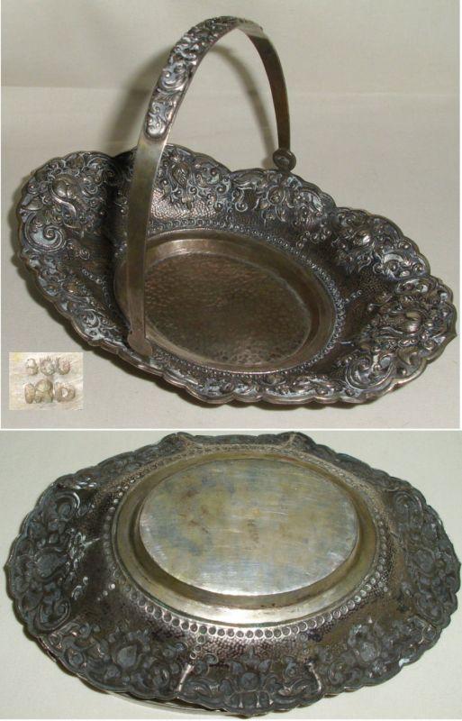 sehr schönes dekoratives Körbchen 800  Silber