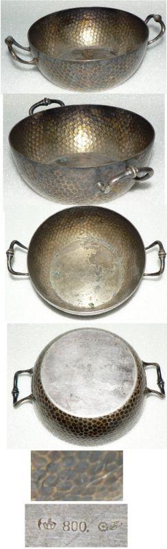 Tolle alte Schale aus massivem 800 Silber