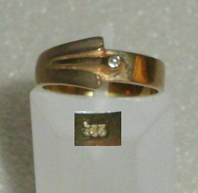 Ring aus 333er Gold mit Diamant 0,1 ct., Gr. 53 Ø 16,9 mm (da4028)