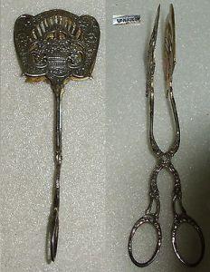 Sehr schöne Gründerzeit Gebäckzange Blumenkörbchen aus 800er Silber  (da4072)