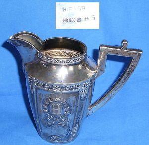 Tolles Gründerzeit Milchkännchen aus 800er Silber mit Monogramm