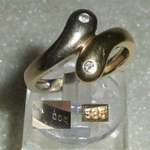 Ring aus 585er Gold mit Diamamten 0,05 ct., Gr. 55 Ø 17,5 mm (da3786)