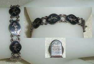 Tolles altes asaiatisches Armband sehr fein 925er Sterlingsilber  (da3777)