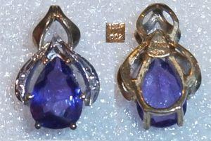 Anhänger 333 Gold mit Amethyst und Diamanten 0,02 ct.