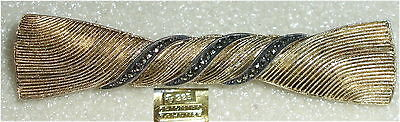 Theodor Fahrner Designer-Brosche 925er Silber vergoldet mit Markasiten (da3230)