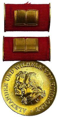 DDR Humboldt Medaille in Gold von 2. Variante 1975-1990 verliehen (AH268b)