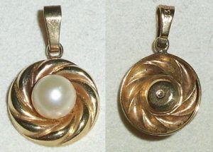 Toller Anhänger aus 333er Gold mit Perle  (da4035)