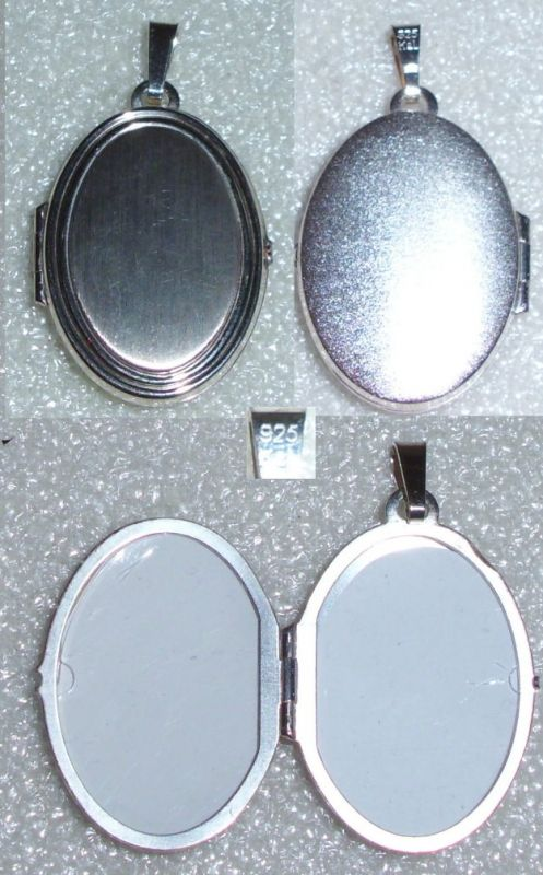 Anhänger/Medaillon zum Aufklappen für Bilder aus 925 Silber