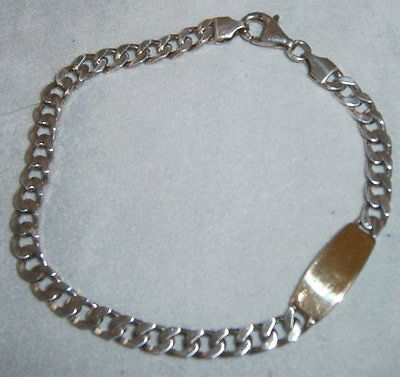 Armband aus 925 Silber ohne Gravur mit 750 Goldauflage aus Geschäftsauflösung