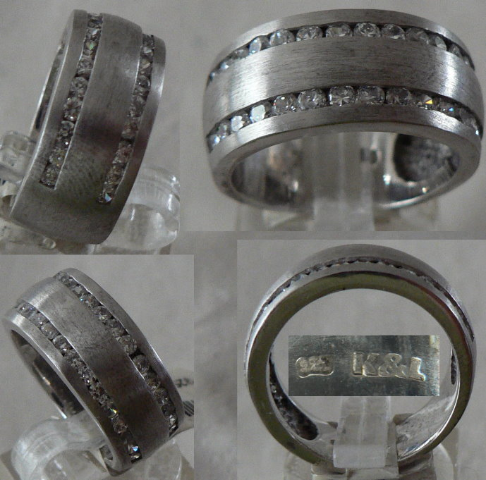 Ring Gr. 55 aus 925 Silber mit Zirkonia
