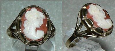 Ring aus 333er Gold mit Gemme neuwertig, Gr. 57 (da2508)