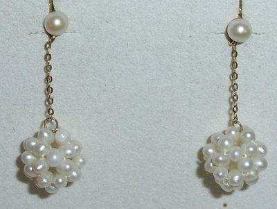 Perlen-Ohrringe aus 585er Gold (da2108)