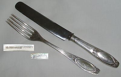 Gründerzeit-Silberbesteck H.REIMER für 12 Personen 800er Silber Rosen (da4166)