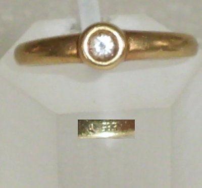 Ring aus 585er Gold mit Jade und 6 Diamanten, Gr. 60/Ø 19,1 mm  (da4156)
