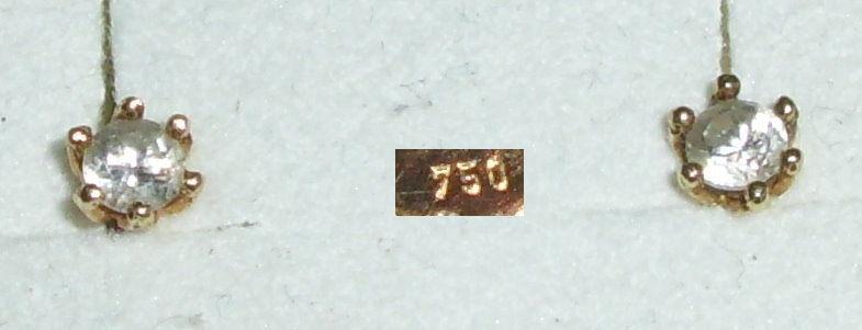 Tolle Ohrringe/Stecker  aus 750er Gold mit Zirkonia (da4230)