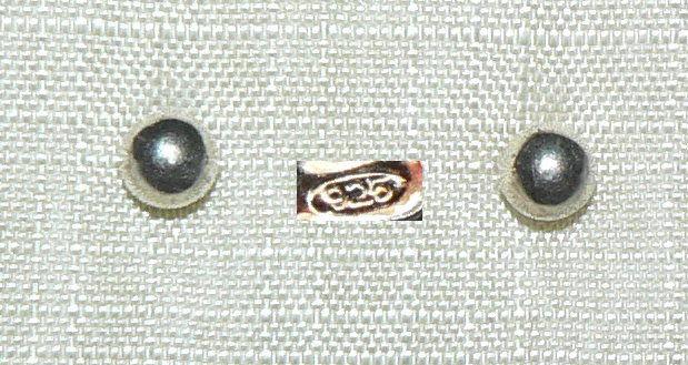 Ohrringe/Stecker aus 925er Silber mit Perle aus Silber  (da4333)