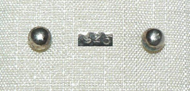 Ohrringe/Stecker aus 925er Silber mit Silber-Perle   (da4332)