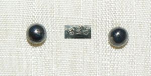 Ohrringe/Stecker aus 925er Silber mit SW-Perle   (da4331)