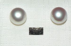 Ohrringe/Stecker aus 925er Silber mit Perle   (da4329)