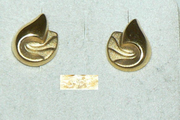 Ohrringe/Stecker aus 375er Gold   (da4405)
