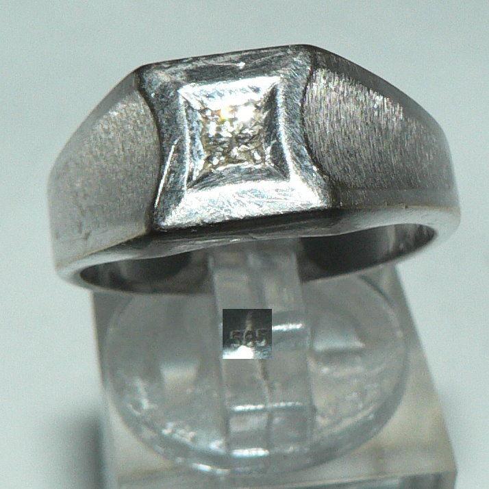 Ring aus 585er Weißgold mit Diamant 0,09 ct., Gr. 60/Ø 19,1 mm  (da4460)