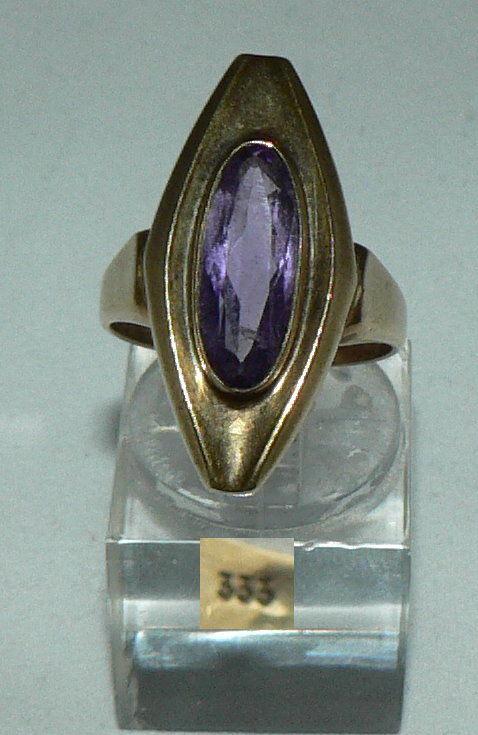 Ring aus 333er Gold mit Amethyst, Gr. 56/Ø 17,8 mm  (da4439)