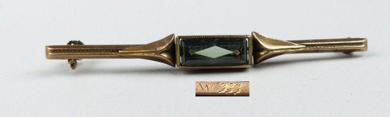 Brosche aus 333er Silber mit Turmalin (da4447)