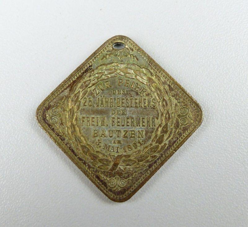 Medaille Medaille 25 Jahre Feuerwehr Bautzen 1891 (da4578)