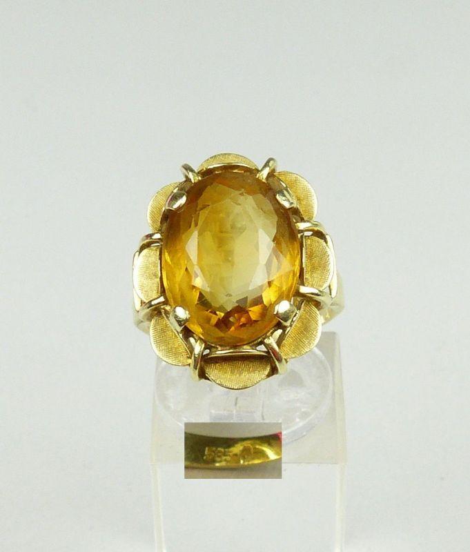 Ring aus 585er Gold mit Citrin, Gr. 54/Ø 17,2 mm  (da4589)