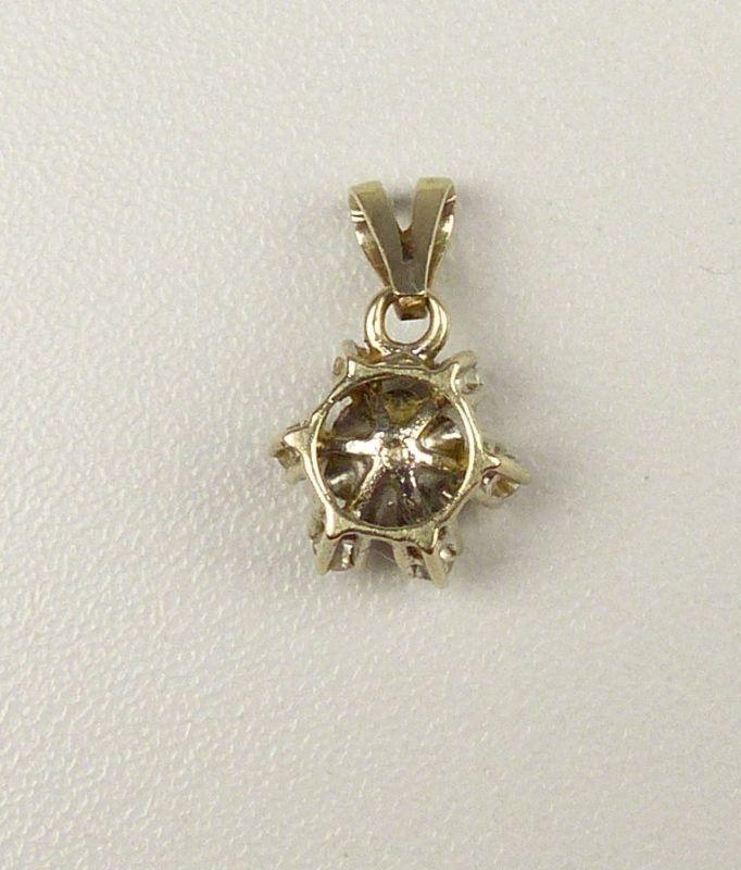 Anhänger aus 333er Weißgold mit Turmalin und Diamanten 0,3 ct.   (da4601) 1