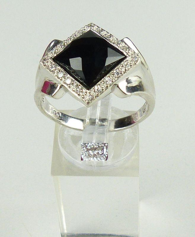 Ring aus 925 Silber mit Onyx, Gr. 69/Ø 22 mm  (da4622)