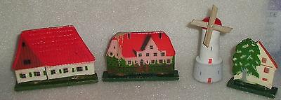 Konvolut sehr alt, Häuser, Bäume, Windmühle wohl Erzgebirge  (da2939)