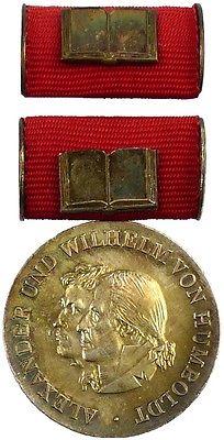 DDR Humboldt Medaille in Silber von 1. Variante 1975-1990 verliehen (AH269a)
