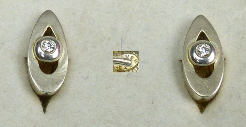 ohrringe stecker aus 925er silber mit bergkristall da4652. Black Bedroom Furniture Sets. Home Design Ideas