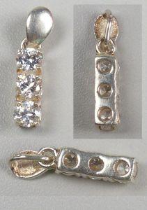 Anhänger aus 925er Silber mit weißem Edelsteinen   (da4628) 0