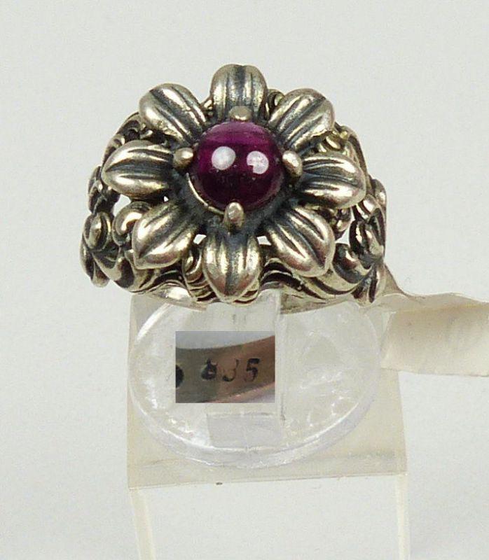 Ring aus 835er Silber mit Amethyst, Gr. 52/Ø 16,6 mm  (da4563)