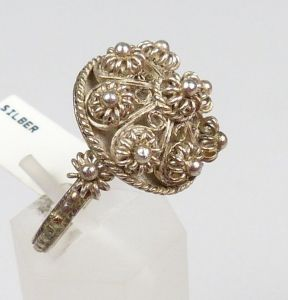 Silber-Ring, Gr. 58/Ø 18,5 mm  (da4448) 0
