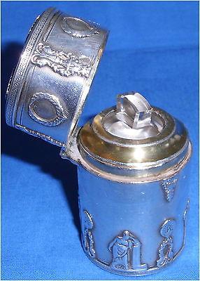 Toller Biedermeier Parfümflakon aus Silber (da3479)