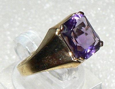 Ring aus 333er Gold mit Amethyst, 2,4 Gramm, neuwertig, Gr. 56 (da2666)