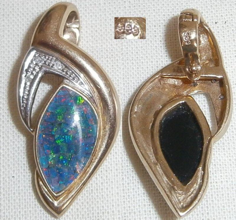 Wunderschöner Anhänger 333er Gold mit Opal