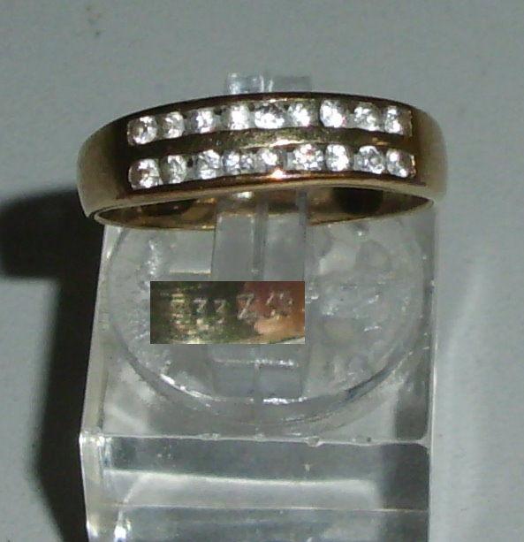 Ring aus 333er Gold mit weißen Steinen   (da4223)