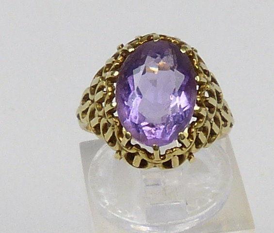 Ring aus 585er Gold mit Amethyst, Gr. 51/  Ø 16,2 mm  (da4752)