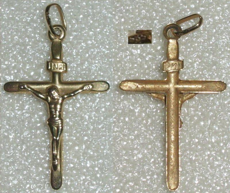 Anhänger Kreuz aus 585 Gold