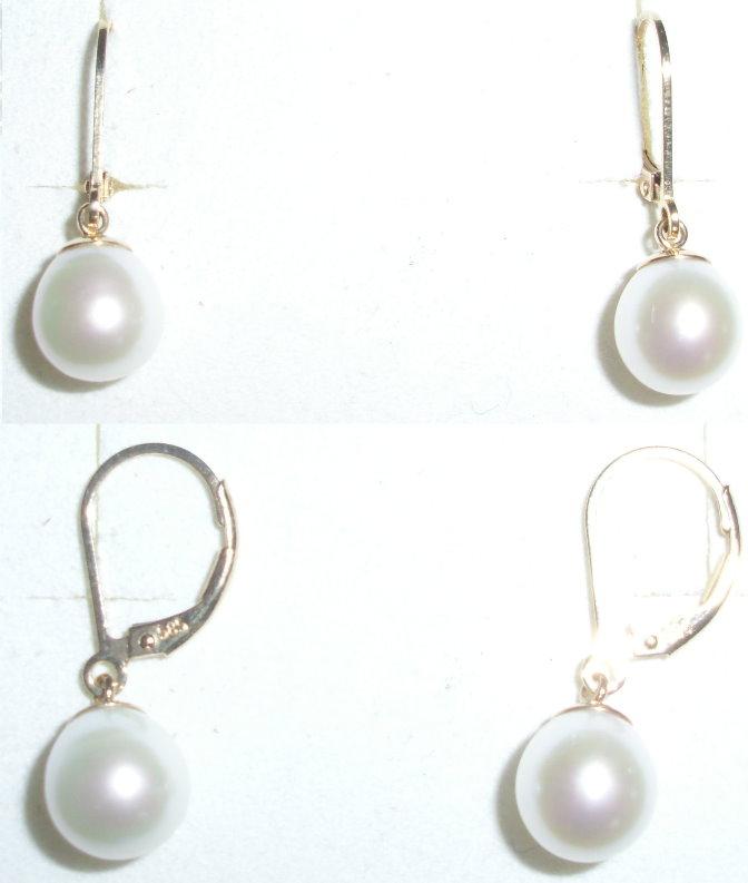 Tolle Ohrringe aus 585 Gold mit Perlen