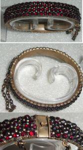 Toller alter Granat-Armreif